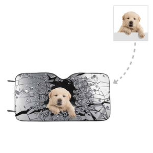 Custom Dog Photo Auto Sun Shade