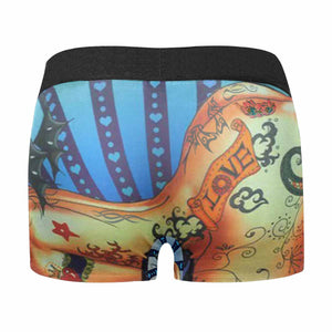 Custom Face Sexy Tattoo Men's All-Over Print Boxer Briefs