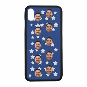 Custom Face Photo Rubber for Iphone Cases-Stars Print - myphotowears