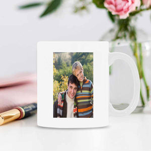 Custom I Love You Dad Pattern With Picture Mugs - myphotowears