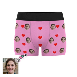 Custom Face Loving Heart Men's All-Over Print Boxer Briefs