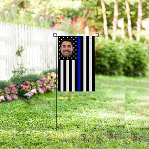 Custom Photo US Stripe Garden Flag - myphotowears