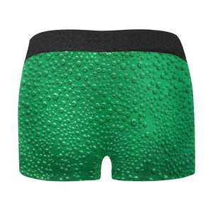 Custom Face Beverage Green Men's All-Over Print Boxer Briefs