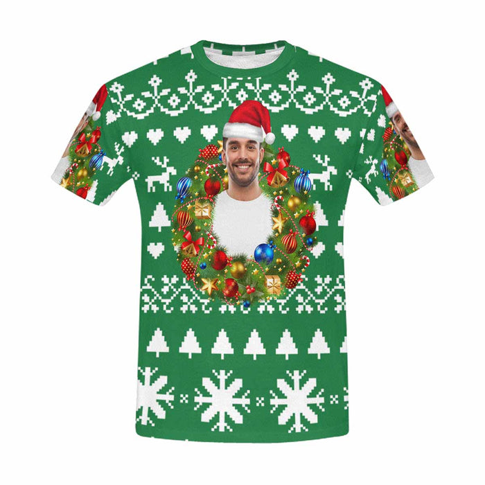 Custom Photo & Christmas T-shirt
