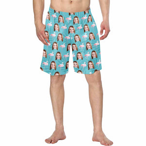 Custom Face Photo  Men's Swim Trunk Personalized Photo Gifts - myphotowears