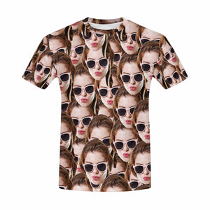 Custom Multiple Faces Men's T-Shirt - myphotowears