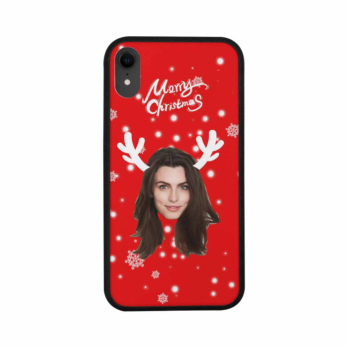 Custom Face & Merry Christmas Iphone Rubber Case