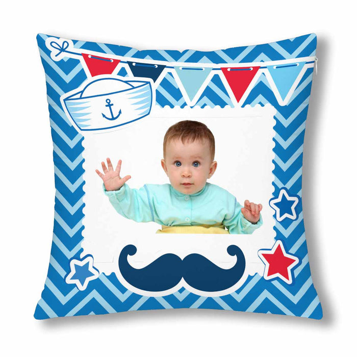 Custom Sailor Style With Photo Pillow Case
