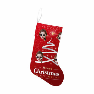 Custom Photo Ribbon  Christmas Stocking - myphotowears