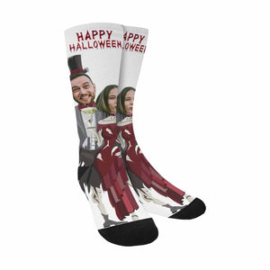 Custom Face & Halloween Sublimated Crew Socks (Made In USA)