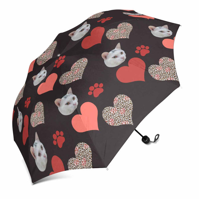 Custom Photo Sun & Rain Foldable Umbrella
