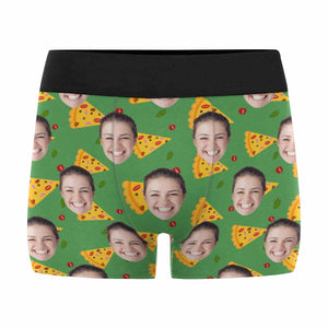 Custom Face & Pizza Men's All Over Print Boxer Briefs - myphotowears