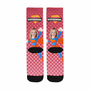 Custom Photo & Superman Socks - myphotowears