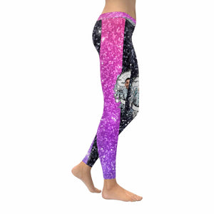 Custom Face Shining All-Over Low Rise Leggings
