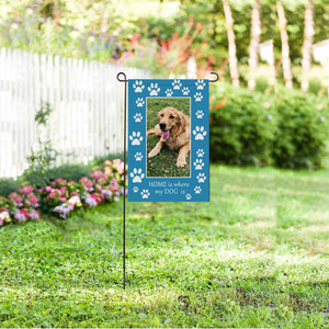 Custom Dog Photo & Claw Garden Flag - myphotowears