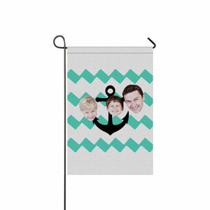 Custom Family Face & Wave Garden Flag - myphotowears