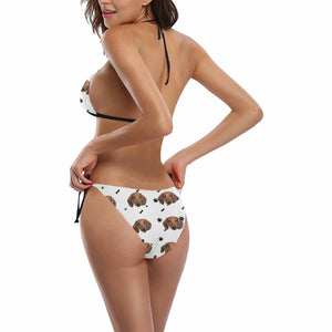 Custom Dog Face Photo swimsuit | Bikini Set - myphotowears