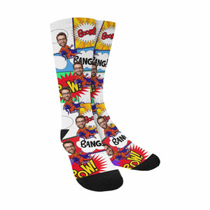 Custom Photo & BOOM' Print Socks - myphotowears