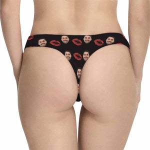 Custom Kiss Patterns With Photo Women's Underwear Sexy Thong - myphotowears