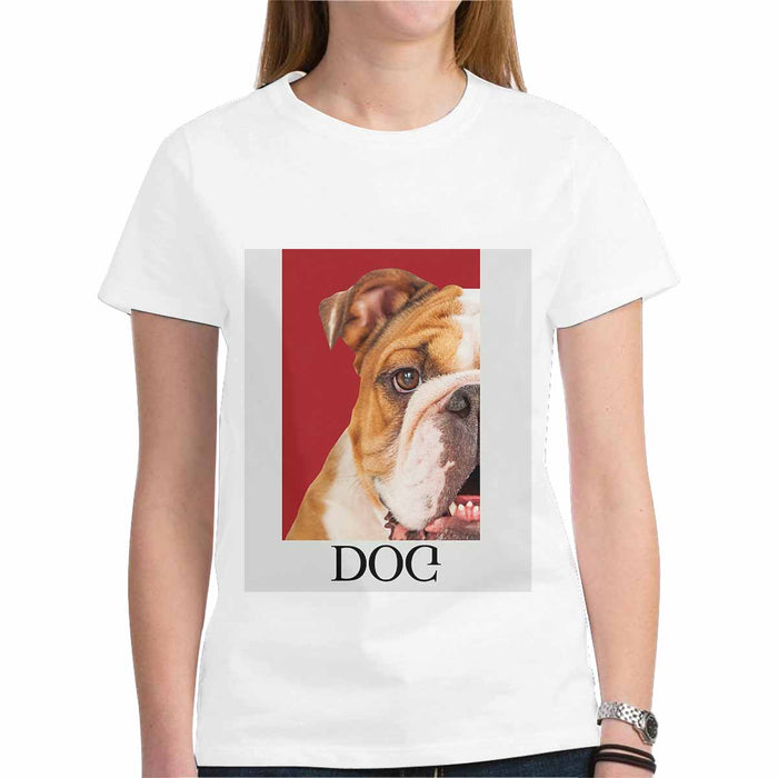 Custom Pet's photo Women's T-Shirt - Gildan (Made In USA)