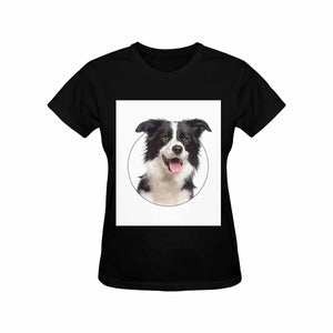 Custom Dog's' Photo Women's T-Shirt - Gildan - myphotowears