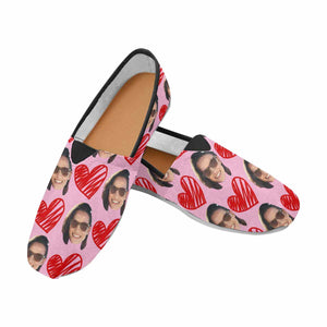 Custom Photo & Heart Casual Canvas Women's Shoes - myphotowears