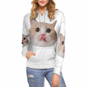 Custom Face Photo  Women's All Over Print Hoodie - myphotowears