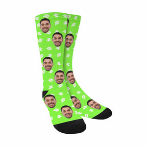 Custom Men's Face And Ghost Patterns Socks - myphotowears