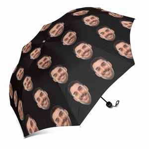 Custom Face Photo Sun & Rain Foldable Umbrella - myphotowears
