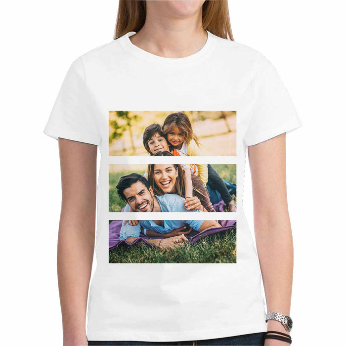 Custom Family Photo Gildan Women's Heavy Cotton T-Shirt