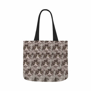 Custom Photo  & Pet Cat Canvas Tote Bag - myphotowears