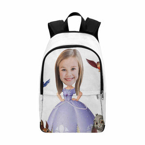 Custom Photo &  Princess Sophia Print School Backpack - myphotowears