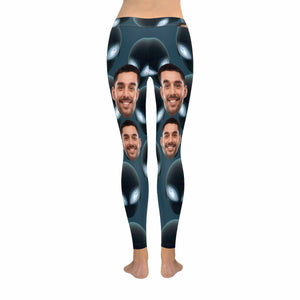 Custom Photo & E.T. Print Women's Legging (Made In USA) - myphotowears