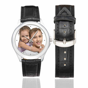 Custom Photo Men & Women Classic Leather Strap Couple Watch - Kid's - myphotowears