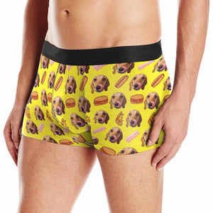 Custom Dog Photo & Hot Dog Men's Briefs - myphotowears