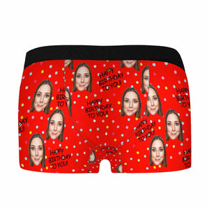 Custom Photo & HAPPY BIRTHDAY TO YOU Men's Boxer Briefs - myphotowears