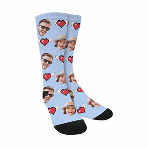 Custom Face & Wings Of  Love Sublimated Crew Socks