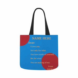 Custom Name & NAME HERE Canvas Tote Bag - myphotowears
