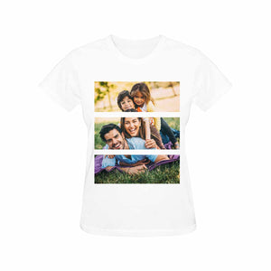 Custom Family Photo Gildan Women's Heavy Cotton T-Shirt - myphotowears