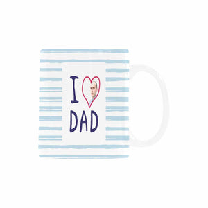 Custom I Love You Dad Pattern With Photo Coffee Mug - myphotowears