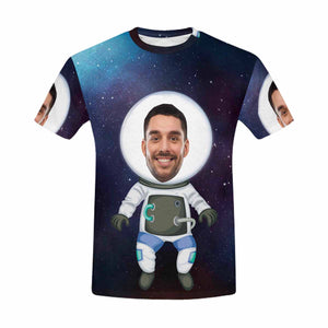 Custom Photo & Astronaut Print T-shirt - myphotowears