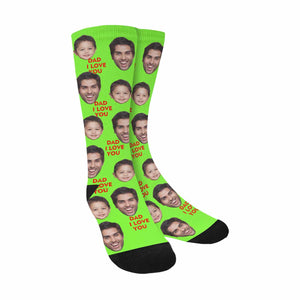 Custom Dad & Kid Photo Socks Personalize Father's Day Gift - myphotowears