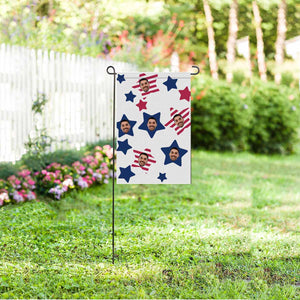 Custom Photo & Start Garden Flag - myphotowears