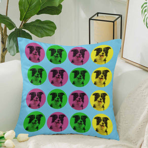 Custom Colorful Dog Face Photo Pillow Case - myphotowears
