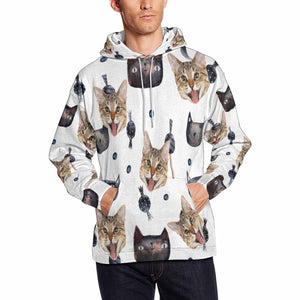 Custom Cat Photo & Cat Men's Hoodie Pullove Personalize Hoodie Gifts - myphotowears