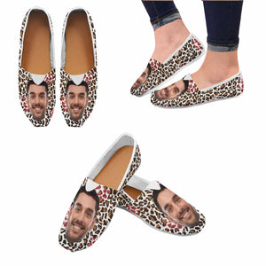 Custom Photo & Leopard Casual Canvas Women's Shoes - myphotowears