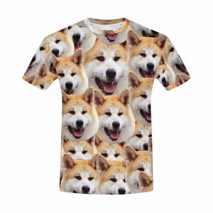 Custom Dog's Face Men's T-shirt - myphotowears