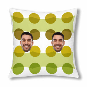 Custom Men's Face And Green Dot Patterns Pillow Case - myphotowears