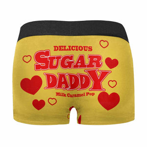 Custom Face Be Your Sugar Daddy Men's All-Over Print Boxer Briefs