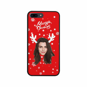 Custom Face & Merry Christmas Iphone Rubber Case - myphotowears